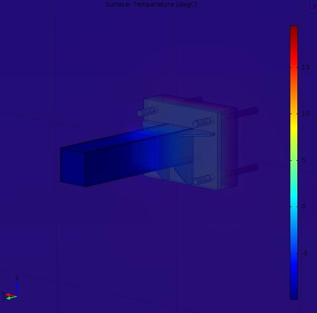 Obliczenia mostków cieplnych 3D - tym razem dla elewacji zewnętrznej budynku